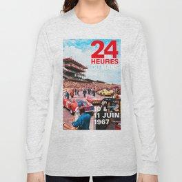 24hs Le Mans 1967, vintage poster Long Sleeve T-shirt