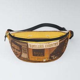 Pittsburgh Sports Pride Strip District City Print Fanny Pack