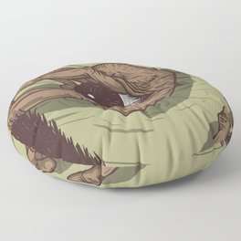 A Talk with Wise Monkey : Open Your Eye Floor Pillow