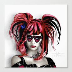 A Real Butterfly Girl Canvas Print