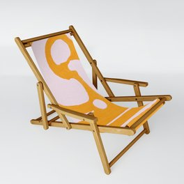 Abstract in Yellow and Cream Sling Chair