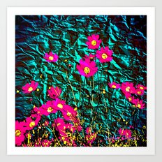 COQUETRY FLORAL (green variation) Art Print