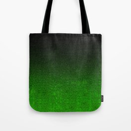 Green & Black Glitter Gradient Tote Bag