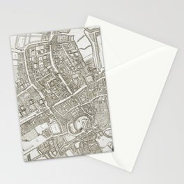 Vintage Map of Oxford England (1675) Stationery Cards