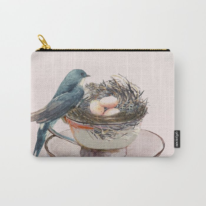 Bird nest in a teacup Carry-All Pouch