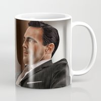 mad men Mugs featuring Don Draper (Mad Men) by San Fernandez