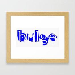 bulge2 Framed Art Print