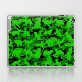 Bright Neon Green Catmouflage Laptop & iPad Skin