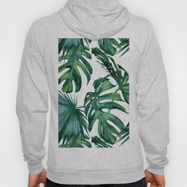 Classic Palm Leaves Tropical Jungle Green Hoodie