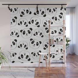 Panda Pattern Wall Mural