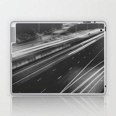 Seattle at Night - Black and White Laptop & iPad Skin