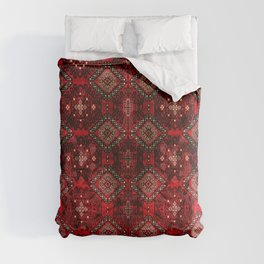Heritage Royal Red Oriental  Traditional Moroccan Style Design  Comforters