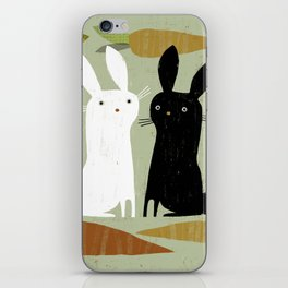 CONTRAST & CARROTS iPhone Skin