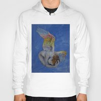 angel Hoodies featuring Angel by Michael Creese