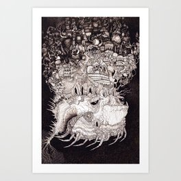 Astral Airlines Art Print