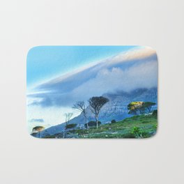 Table mountain blanketed in cloud Bath Mat