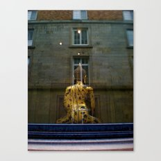 Buddha in the Window Canvas Print