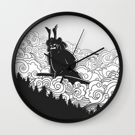 Giant Samurai Wall Clock