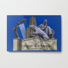 Pittsburgh Campus Collage Photography Print Metal Print