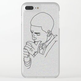 Smoking boy Clear iPhone Case