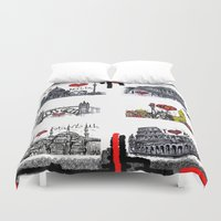 cities Duvet Covers featuring Cities 2 by sladja