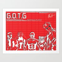 guardians of the galaxy Art Prints featuring Guardians of the Galaxy by The Renegade