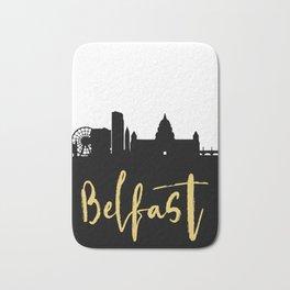 BELFAST NORTHERN IRELAND DESIGNER SILHOUETTE SKYLINE ART Bath Mat