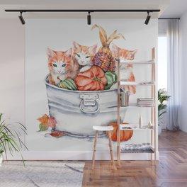 Harvest Kittens Wall Mural