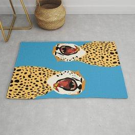 Screaming Cheetah Rug