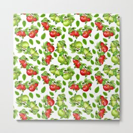 Apples on a Branch Metal Print
