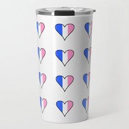 Parody of the french flag 3-France,Paris, pink, Marseille, lyon, Bordeaux,love, girly,fun,idyll,Nice Travel Mug