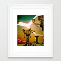 grid Framed Art Prints featuring Grid by Zack Rogers