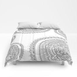 Realizing on White Background Comforters