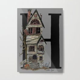 H is for Haunted House Metal Print