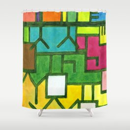 The Filling Line Shower Curtain