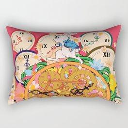 Running with time Rectangular Pillow