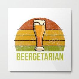 Beergetarian Funny Craft Beer Brewtiful with Barley & Hops Metal Print