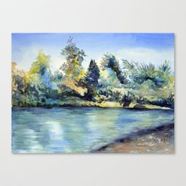 A Little Spot on the Truckee Canvas Print