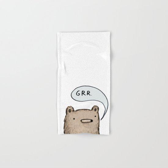 Growling Bear Hand & Bath Towel