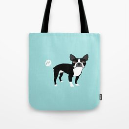 Boston Terrier funny fart dog pure breed gifts dog lovers Tote Bag