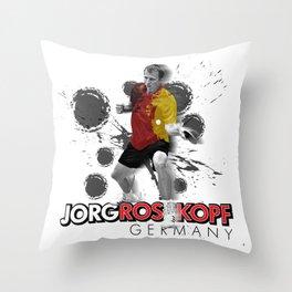 Jorg Rosskopf | Table Tennis Legend Throw Pillow