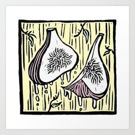 Figs in Space - Linoprint Art Print
