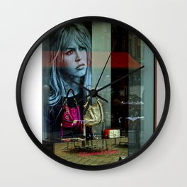 Young Brigitte Bardot in a Shop in Lille Wall Clock