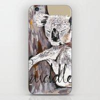 cuddle iPhone & iPod Skins featuring koala cuddle by Katy Lloyd