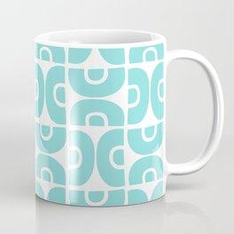 Groovy Mid Century Modern Pattern 731 Turquoise Coffee Mug