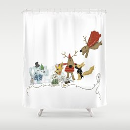 ANDREYA STORY'S ART: Happy Holidays Shower Curtain
