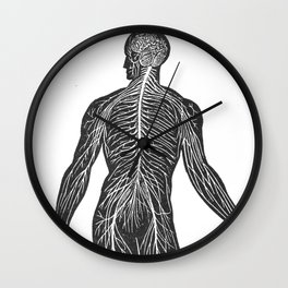 The human nervous system Wall Clock