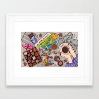 chocolate Framed Art Prints featuring Chocolate by Natalia Illarionova