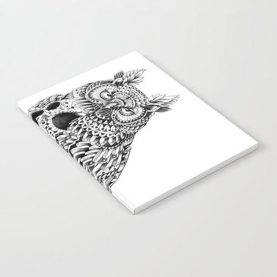 Great Horned Skull Notebook