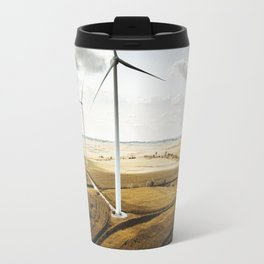windturbine in nebraska Travel Mug